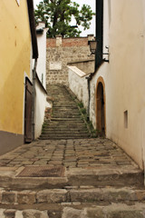 Typical European Alley in Szentendre Hungary