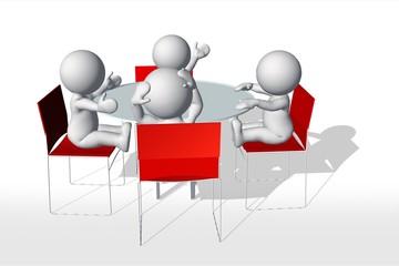 Meeting (white man)
