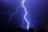 Night shot with big thunderstorm.