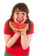 Eating melon