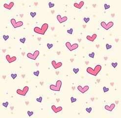 Vector hearts pattern