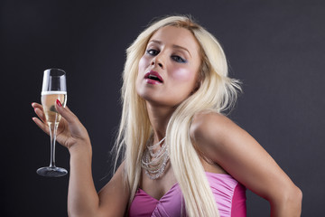 Sexy Woman With Champagne