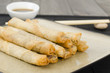 Duck Spring Rolls - Thin fried duck spring rolls & hoisin sauce