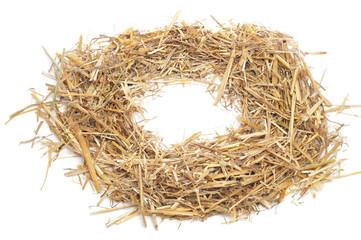 round straw frame