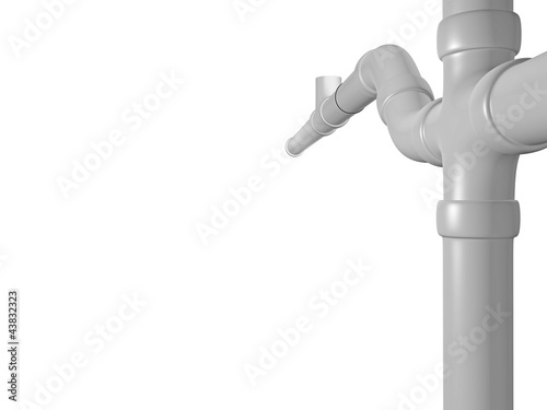 sewage pipe detailed view - 3D