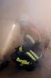 Feuerwehrmann im Rauch