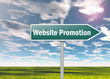 "Signpost ""Website Promotion"""