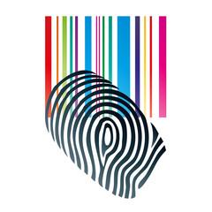 Fingerabdruck, Strichcode, Barcode