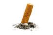 Cigarette butt with ash