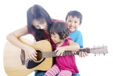 Musician with her children