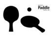 Tischtennisschläger mit Ball