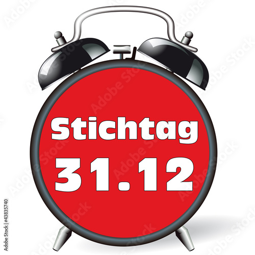 Leinwandbild Motiv Wecker - Stichtag 31.12
