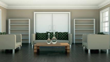 Wohndesign - grüne Kissen