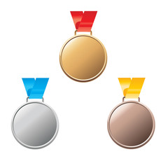 Vector Empty Medal awards