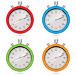 Vector color stopwatch set