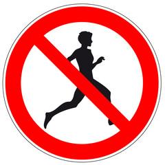 Verbotszeichen - Joggen verboten