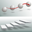 Elegant Sphere Stairs Business Charts