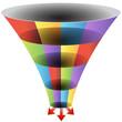 Mosaic Funnel Chart Set