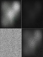 Abstract metal background. Set Black