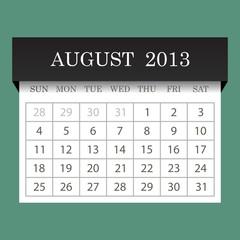 Calendar 2013.August