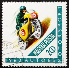 Postage stamp Hungary 1962 Racing Motorcyclist