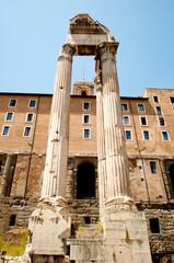 Roman Forum. Temple of Vespasian and Titus