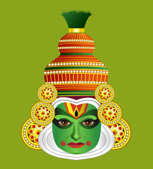 South Indian Traditional Kathakali Dancer