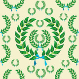 Seamless laurel wreath pattern