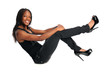 African American Woman Sitting