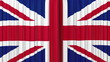 United Kingdom flag curtain, Opening and closing HD, mask