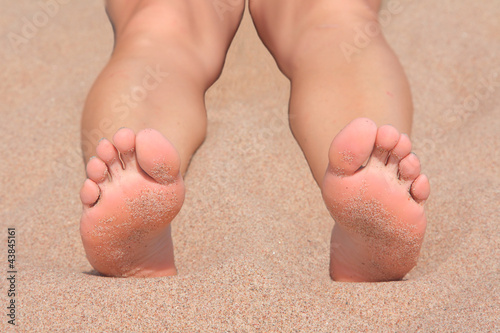 Feet at a beach