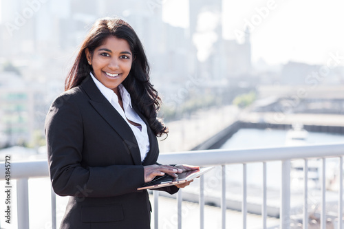 Indian businesswoman with tahlet PC