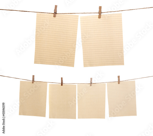 Set Of Hanging Paper Sheet
