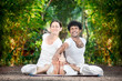 Couple yoga in India