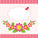 Floral card with a frame