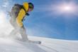 Snowboarder im Spray