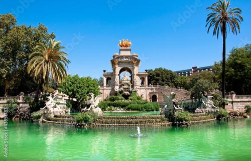 Leinwanddruck Bild The Parc de la Ciutadella. Barcelona.