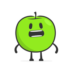 funny cartoon apple