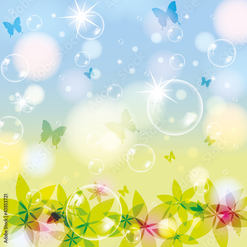 Abstract spring summer background