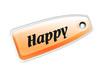 Etiqueta happy naranja
