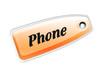 Etiqueta phone naranja