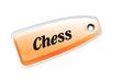 Etiqueta chess naranja