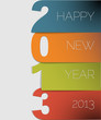 Happy New Year 2013 vector card