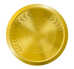 Goldmedaille isoliert