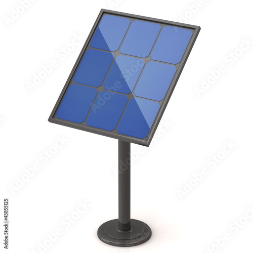 Solar energy panel isolated on white