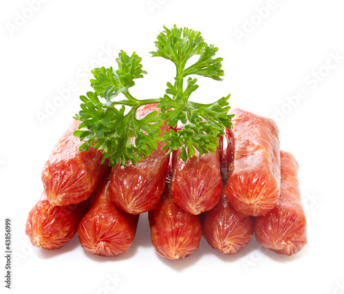 Salami  on white background