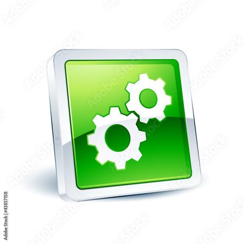 icône bouton internet engrenage