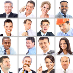Collection of portraits of business people