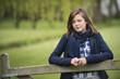 Girl thinking in a farm