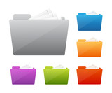 Fototapety Colorful folder icon